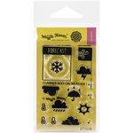 Waffle Flower Crafts - Clear Acrylic Stamps - Planner Add-On - Weather 1