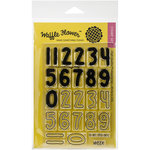 Waffle Flower Crafts - Clear Acrylic Stamps - Calendar Numbers