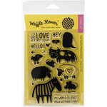 Waffle Flower Crafts - Clear Acrylic Stamps - Monochrome