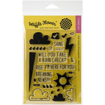Waffle Flower Crafts - Clear Acrylic Stamps - Rain Check