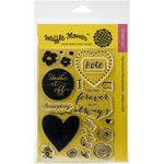 Waffle Flower Crafts - Clear Acrylic Stamps - DT Mix