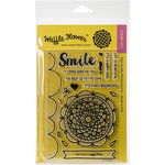 Waffle Flower Crafts - Clear Acrylic Stamps - Doily Circle