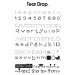 Provo Craft - Cricut Personal Electronic Cutting System - Tear Drop Font - Alphabet Cartridge