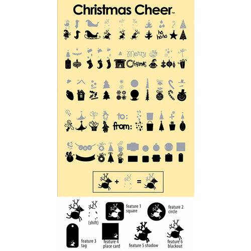 Provo Craft - Cricut Personal Electronic Cutting System - Christmas Cheer - Shapes Cartridge, CLEARANCE
