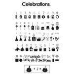 Provo Craft - Cricut Personal Electronic Cutting System - Celebrations - Shapes Cartridge, CLEARANCE