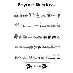 Provo Craft - Cricut Personal Electronic Cutting System - Beyond Birthdays - Words - Shapes Cartridge, CLEARANCE