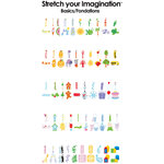 Provo Craft - Cricut Personal Electronic Cutting System - Stretch Your Imagination - Shapes Cartridge