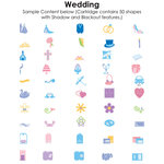 Provo Craft - Cricut Personal Electronic Cutting System - Wedding - Shapes Cartridge