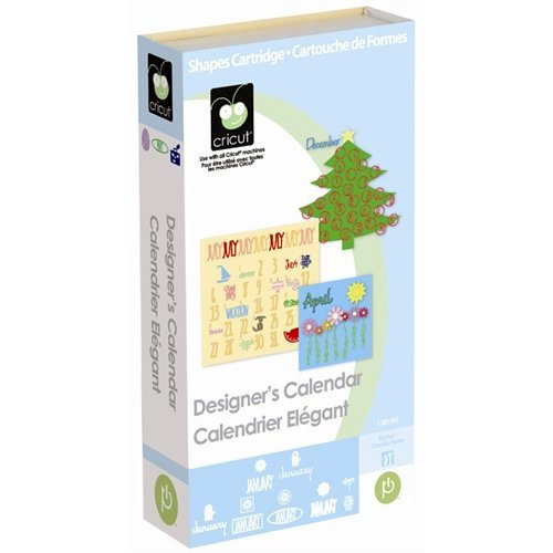 Provo Craft - Cricut Personal Electronic Cutting System - Designer's Calendar - Words Numbers and Shapes Cartridge