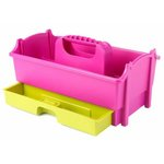 Creative Options - Crafter's Caddy with Drawer - Green and Magenta