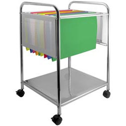 Cropper Hopper - Hanging File Trolley - Silver