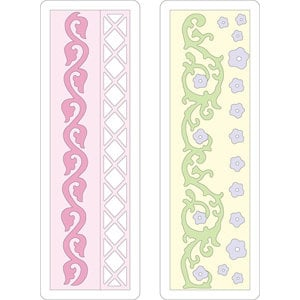 Provo Craft - Cuttlebug - Die Cut Set - 2 Die Cuts - Floral Borders, CLEARANCE