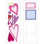 Provo Craft - Cuttlebug - Die Cut Set - 2 Die Cuts - Hearts and Stamps, CLEARANCE