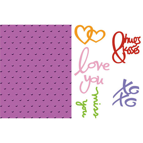 Provo Craft - Cuttlebug - Embossing Folder and Die Cut Combo - Love Language