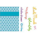 Provo Craft - Cuttlebug - Embossing Folder and Die Cut Combo - Welcome Baby, CLEARANCE