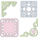 Provo Craft - Cuttlebug - Die Cut Set - 4 Die Cuts - Vintage