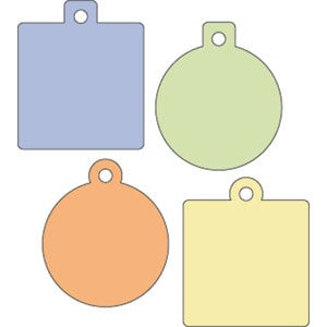 Provo Craft - Cuttlebug - Die Cut Set - 4 Die Cuts - Charms, CLEARANCE
