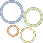Provo Craft - Cuttlebug - Die Cut Set - 4 Die Cuts - Circle Frames, CLEARANCE