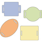 Provo Craft - Cuttlebug - Die Cut Set - 4 Die Cuts - Sliders