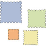 Provo Craft - Cuttlebug - Die Cut Set - 4 Die Cuts - Scallop Squares, CLEARANCE