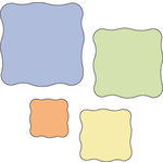Provo Craft - Cuttlebug - Die Cut Set - 4 Die Cuts - Wavy Squares, CLEARANCE