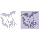 Provo Craft - Cuttlebug - Embossing Folder and Die Cut Combo - Creepy, CLEARANCE
