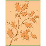 Provo Craft - Cuttlebug - Embossing Folder - Holly, CLEARANCE