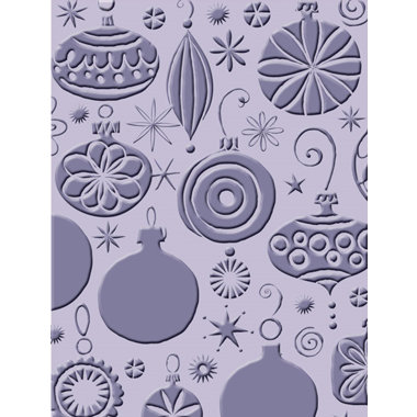 Provo Craft - Cuttlebug - Embossing Folder - Christmas Ornaments