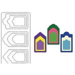 Provo Craft - Coluzzle - Clear Plastic Cutting Template - Gift Tag, CLEARANCE