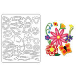 Provo Craft - Coluzzle - Clear Plastic Cutting Template - Flower Petal