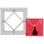 Provo Craft - Coluzzle - Clear Plastic Cutting Template - Square Envelope