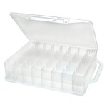 Creative Options - Double-Sided Multi-Craft Carrier - 46 Compartments - Clear