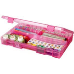 Art Bin - Solutions Box - Raspberry - 3 to 25 Compartments