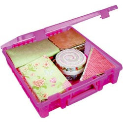 Art Bin - Super Satchel - One Compartment - Translucent Raspberry
