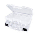 Art Bin - Quick View Deep Base Carrying Case with Lift Out Tray - Clear