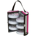 Creative Options - Six Tray Bead and Embellishment Tower - Black, Magenta and Silver