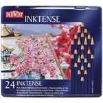 Derwent - Inktense Pencils - Ink Pencils - 24 Pieces