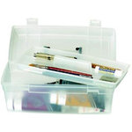 Art Bin - Essentials - Lift-Out Tray Box - Clear and Black