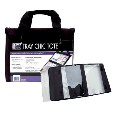 Crop in Style - Tray Chic Tote - Black