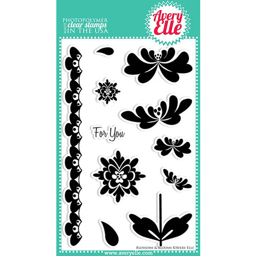 Avery Elle - Clear Acrylic Stamps - Blossoms and Blooms