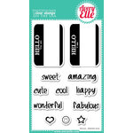 Avery Elle - Clear Acrylic Stamps - Hello