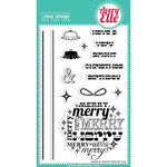 Avery Elle - Clear Acrylic Stamps - Christmas - Merry and Bright