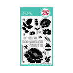 Avery Elle - Clear Acrylic Stamps - Petals and Stems