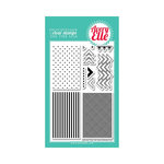 Avery Elle - Clear Acrylic Stamps - Texture Tiles - Be Cool
