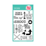 Avery Elle - Clear Acrylic Stamps - Aim High