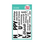 Avery Elle - Clear Acrylic Stamps - Fill In The Blank