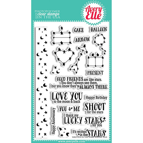 Avery Elle - Clear Acrylic Stamps - Written In The Stars