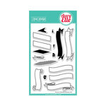 Avery Elle - Clear Acrylic Stamps - Build A Banner