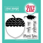 Avery Elle - Clear Acrylic Stamps - Thankful