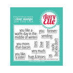 Avery Elle - Clear Acrylic Stamps - Simply Said - Love